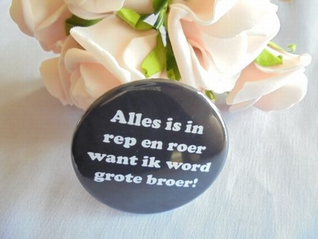 button alles in rep en roer word grote broer ca.58 mm