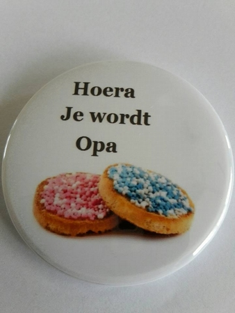 hoera je wordt opa button ca 56 mm