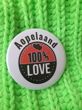 carnaval button aopelaand 100% Love