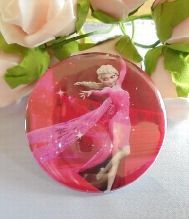 button elsa roze staand  58 mm